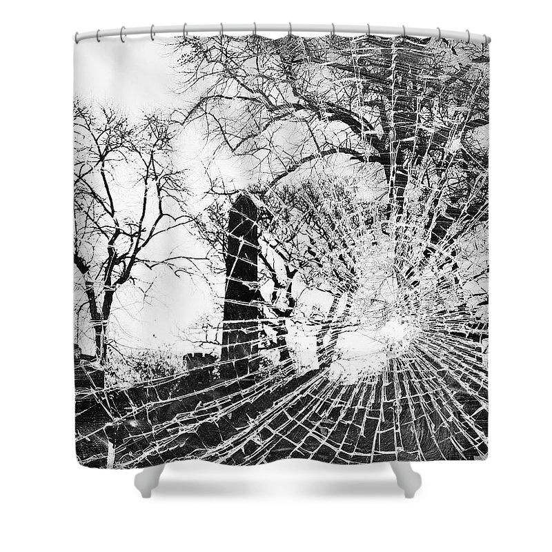 Tree Shower Curtain featuring the photograph Broken Trees by Munir Alawi