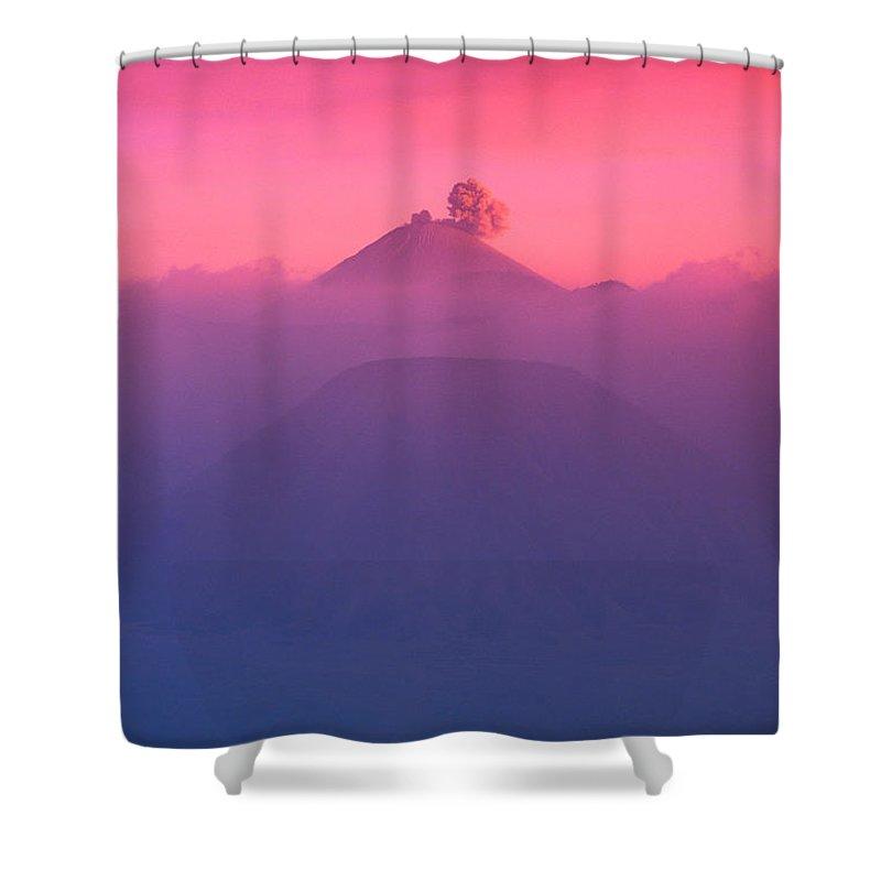 Ash Shower Curtain featuring the photograph Bromo Tengger Semeru by Gloria & Richard Maschmeyer - Printscapes