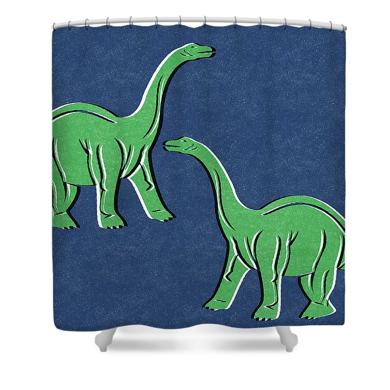 Extinct And Mythical Shower Curtains