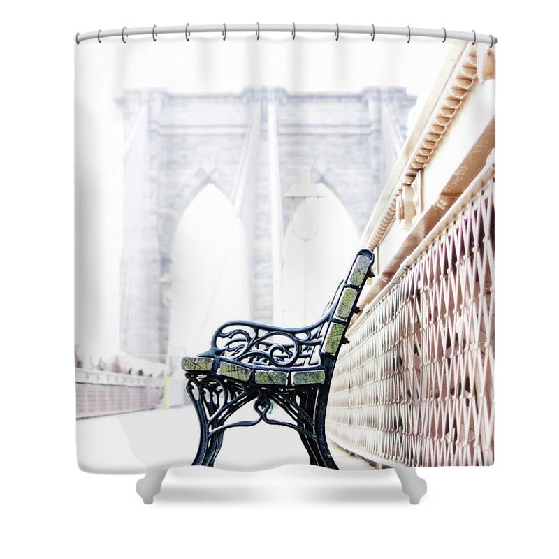 Brooklyn Bridge Shower Curtain featuring the photograph Brooklyn Bridge by Nishanth Gopinathan