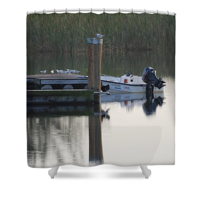 Water Shower Curtain featuring the photograph Broward Boat by Rob Hans