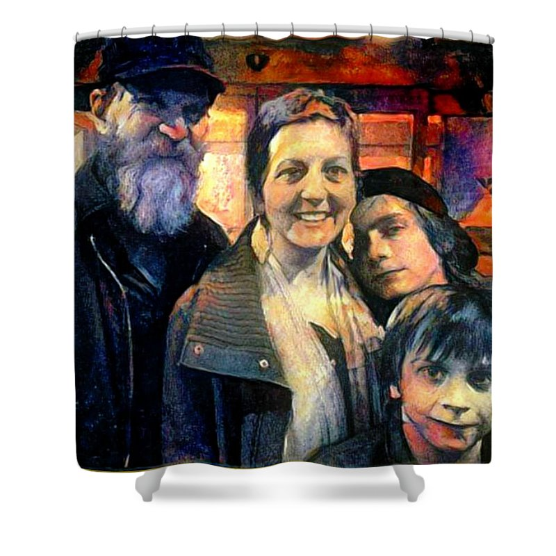 Brubaker Shower Curtain featuring the painting Brubaker Strong by Marshall Thomas