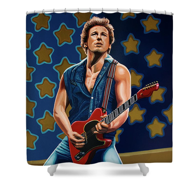 Bruce Springsteen Rock Shower Curtains