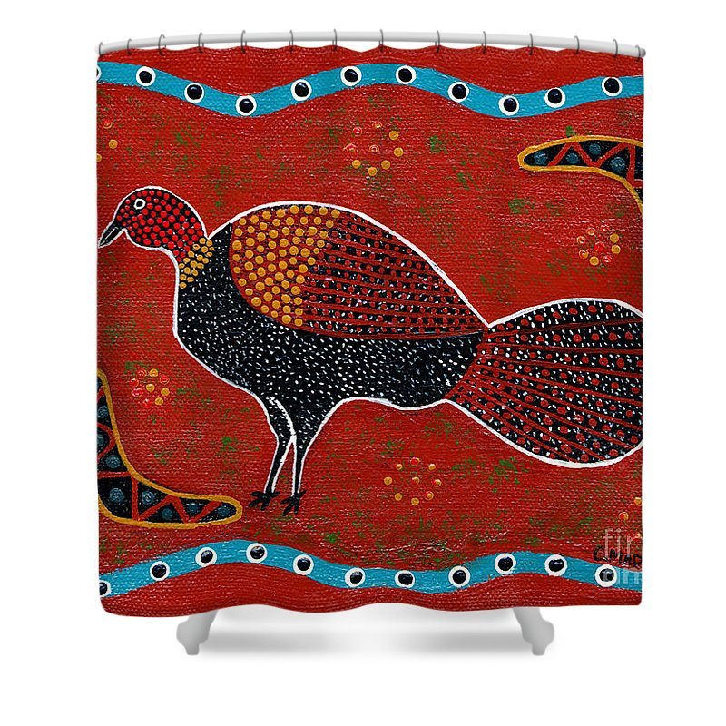 Brushturkey Shower Curtain featuring the painting Brush Turkey by Clifford Madsen