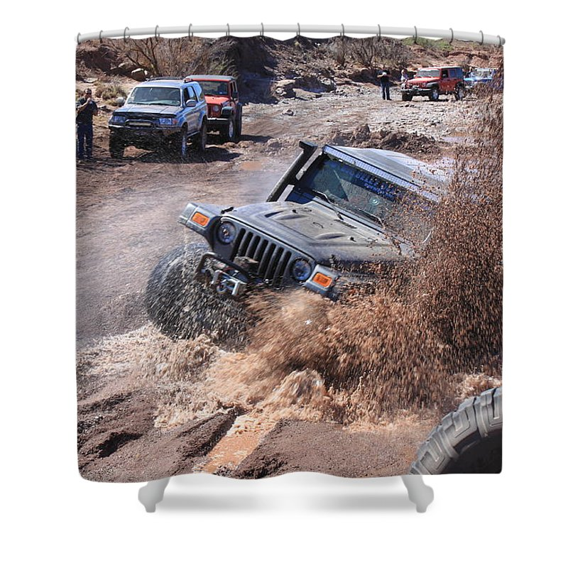 Jeep Shower Curtain featuring the photograph Brutal Bog by Mark Bell