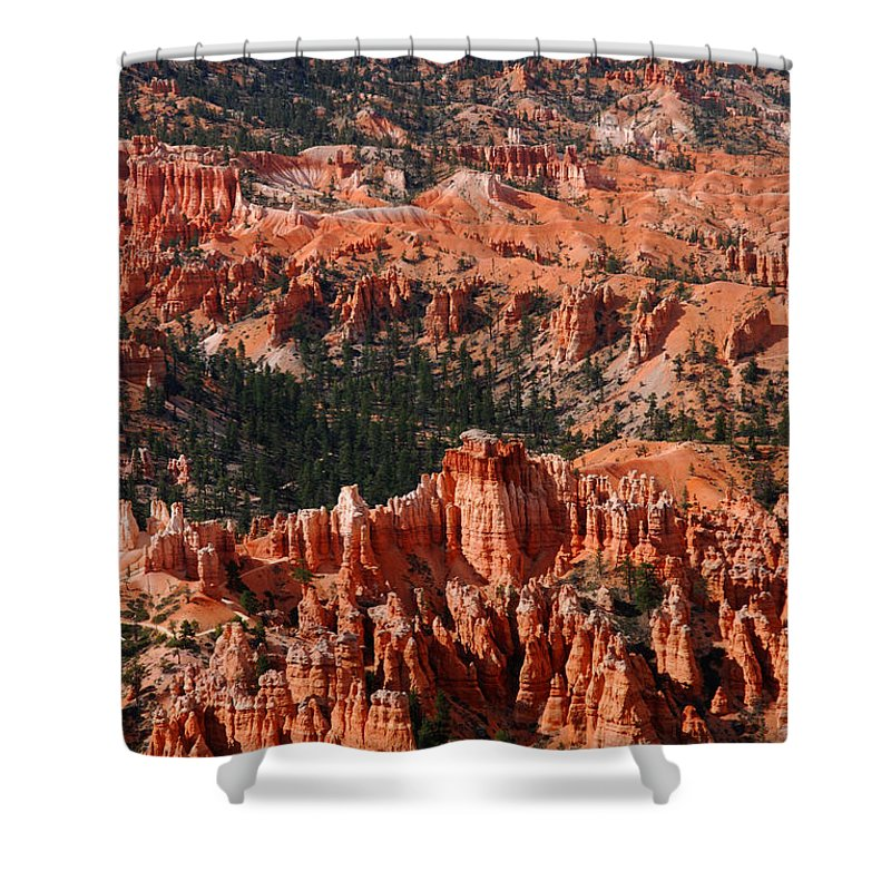 Photography Shower Curtain featuring the photograph Bryce Canyon Vertical by Susanne Van Hulst