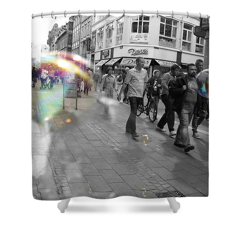 Photography Shower Curtain featuring the photograph Bubbles. Copenhagen. 2 by Cristina Rettegi