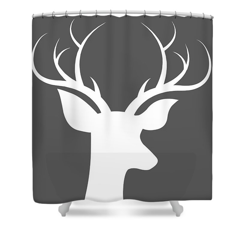 Buck Deer Shower Curtain Featuring The Digital Art By Chastity Hoff