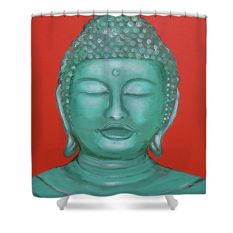 Buddah Shower Curtain featuring the painting Buddah I by Sue Wright