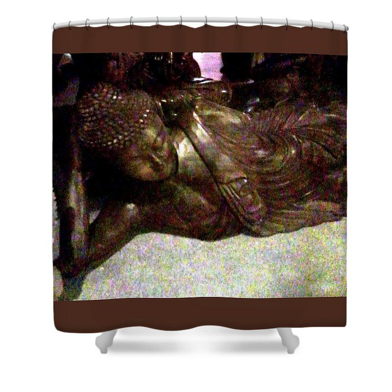 Buddha Shower Curtain featuring the photograph Buddha by Abby Humphries