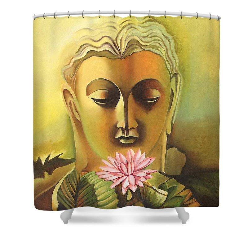 Buddha Canvas Oil Art Handmade Indian Buddhist Spiritual Wall Decor ...