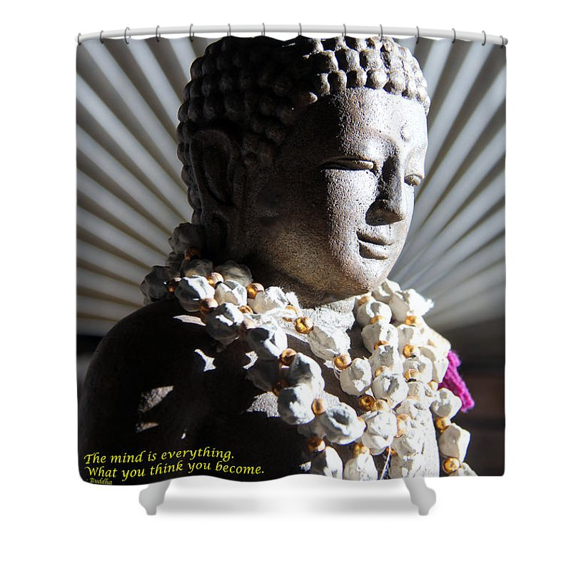 Buddha Shower Curtain featuring the photograph Buddha Mind by Nelson Smith