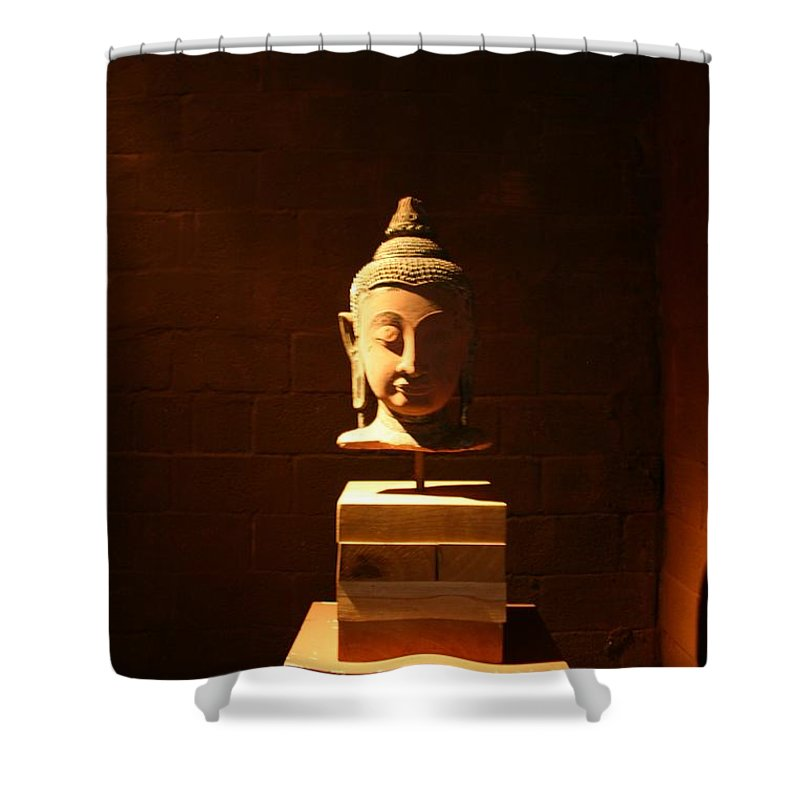 Buddhism Shower Curtain featuring the photograph Buddhism In Belgium by Minaz Jantz