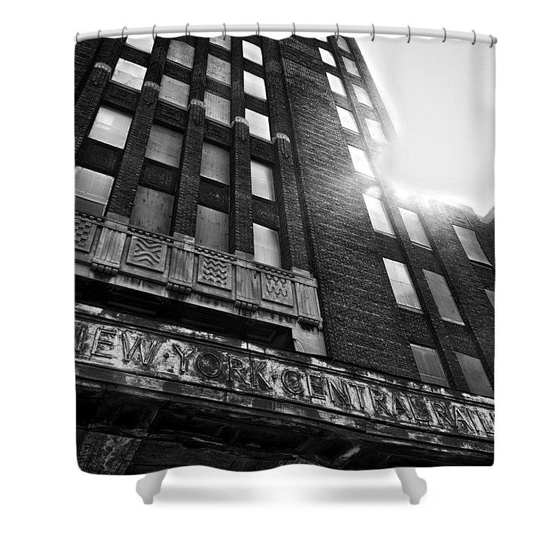Buffalo Shower Curtain featuring the photograph Buffalo Central Terminal by Benjamin Dean