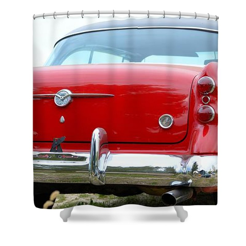 50s Shower Curtain featuring the photograph Buick Century by Bonfire Photography