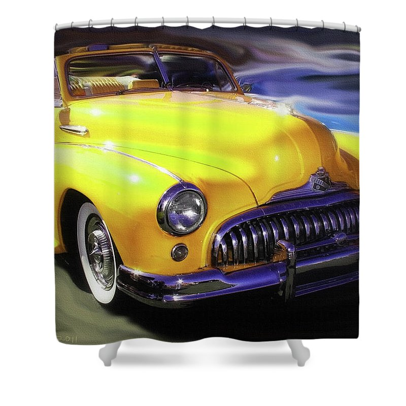 Buick Shower Curtain featuring the photograph Buick Time Warp by Patricia L Davidson