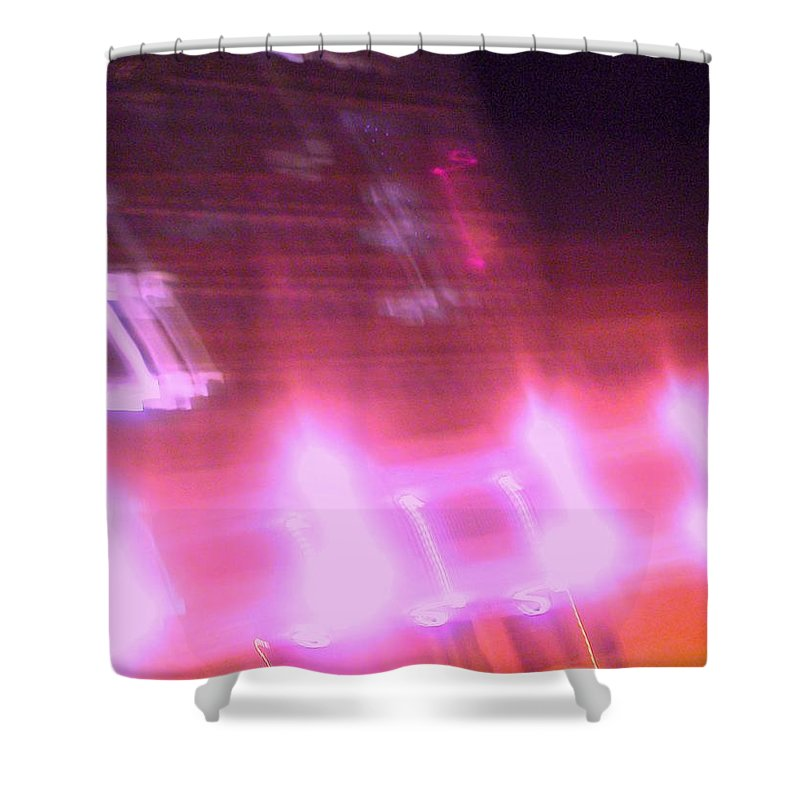 Photograph Shower Curtain featuring the photograph Building by Thomas Valentine