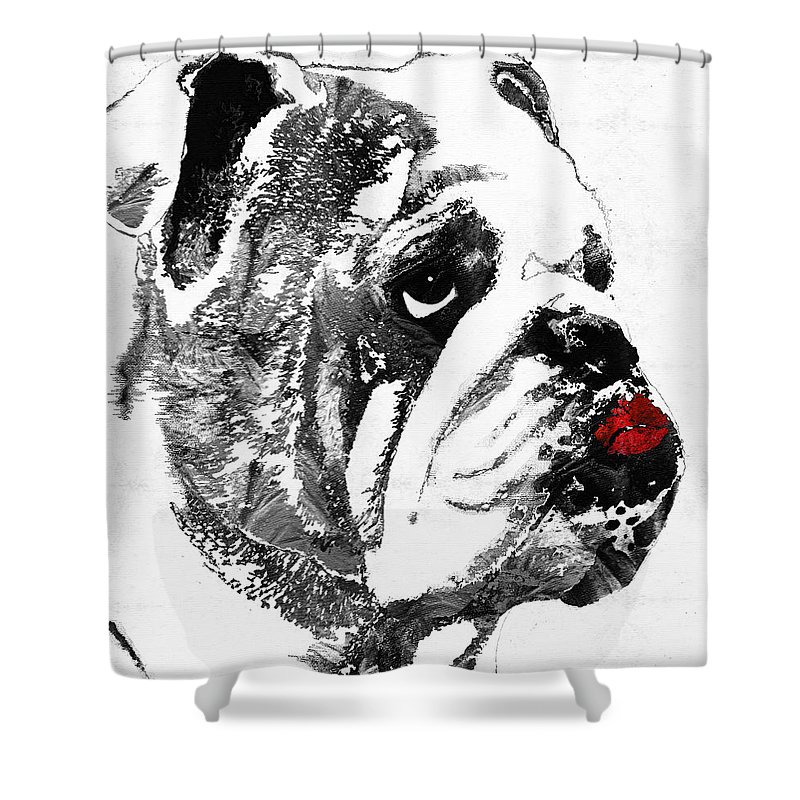 Uga Football Shower Curtains