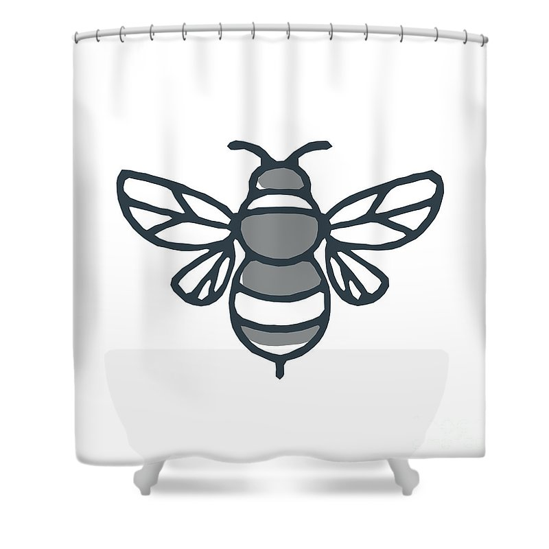 Delicieux Icon Shower Curtain Featuring The Digital Art Bumblebee Bee Icon By  Aloysius Patrimonio