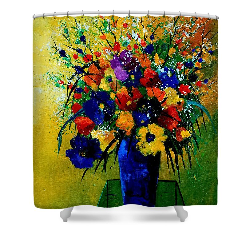 Poppies Shower Curtain featuring the painting Bunch 0508 by Pol Ledent