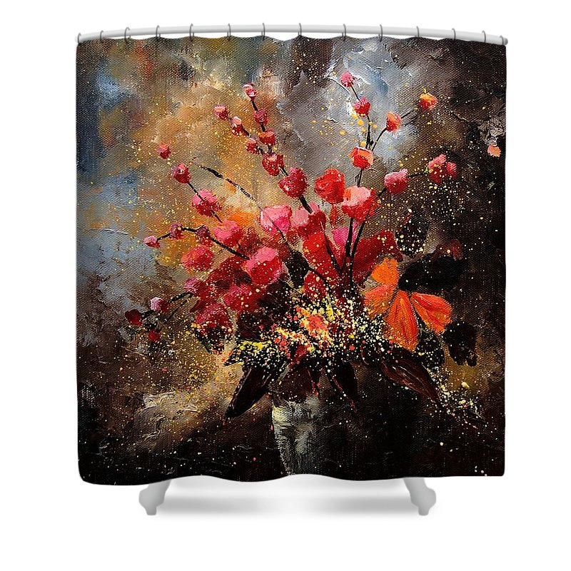 Poppies Shower Curtain featuring the painting Bunch 1207 by Pol Ledent