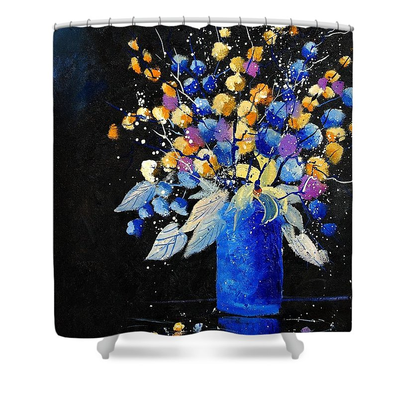 Flowers Shower Curtain featuring the painting Bunch 451008 by Pol Ledent