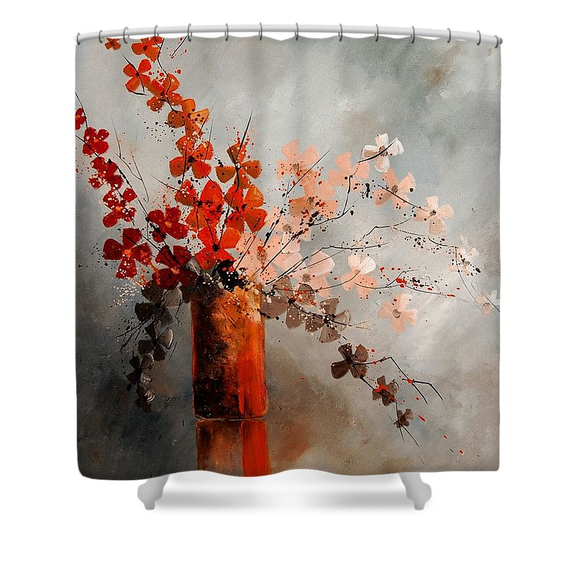 Flowers Shower Curtain featuring the painting Bunch 670908 by Pol Ledent