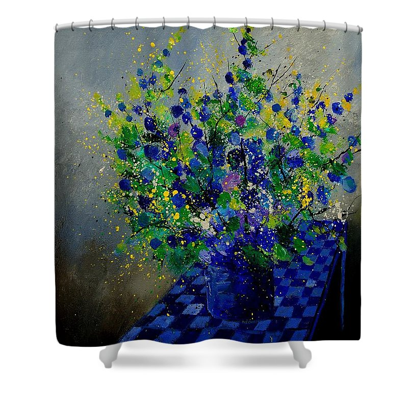 Flowers Shower Curtain featuring the painting Bunch 9020 by Pol Ledent
