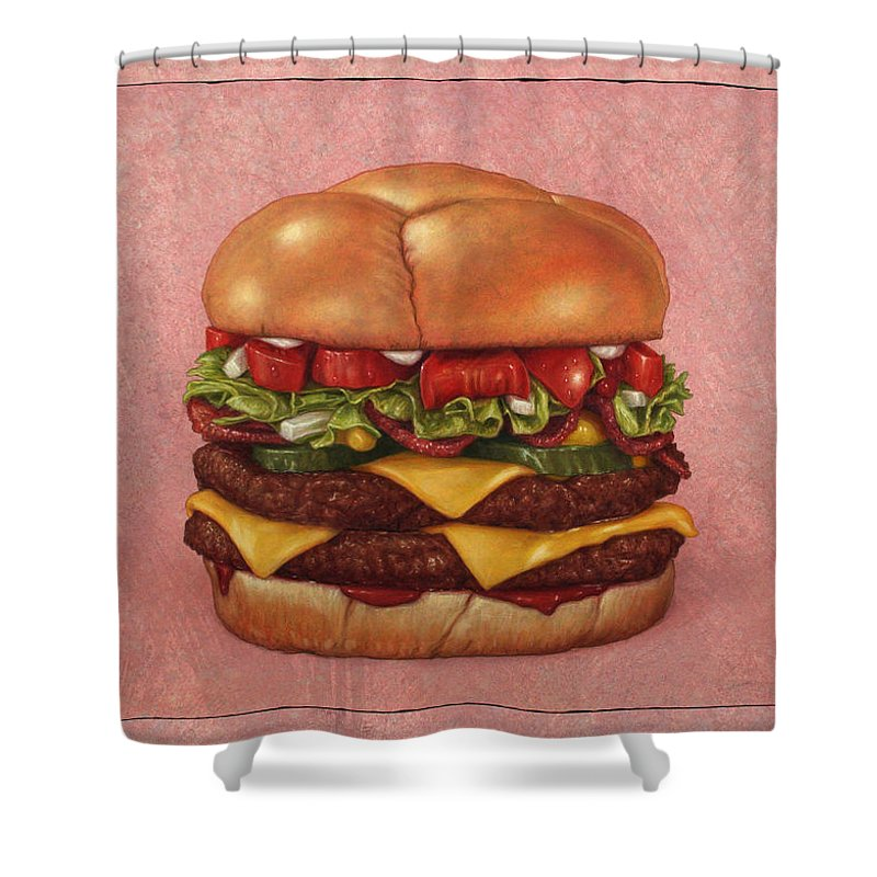 Burgers Shower Curtains