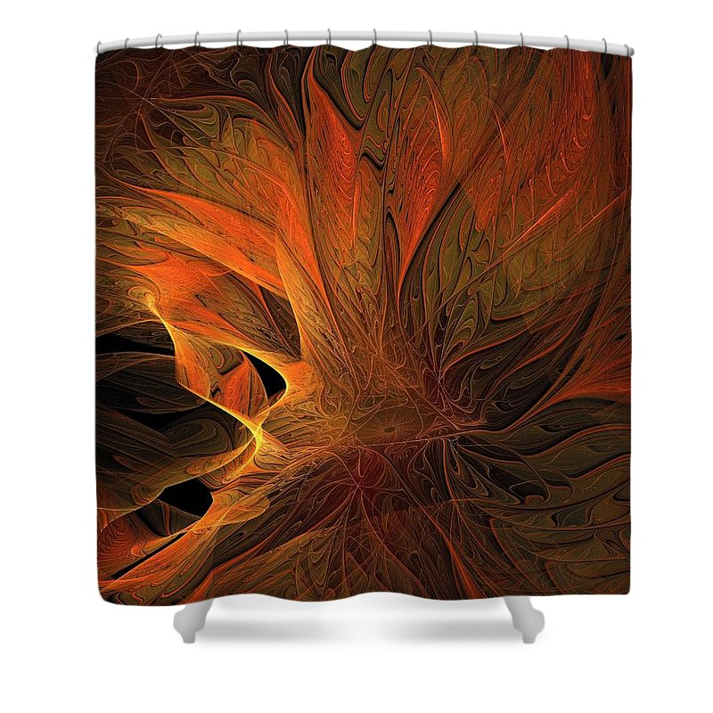 Digital Art Shower Curtain featuring the digital art Burn by Amanda Moore