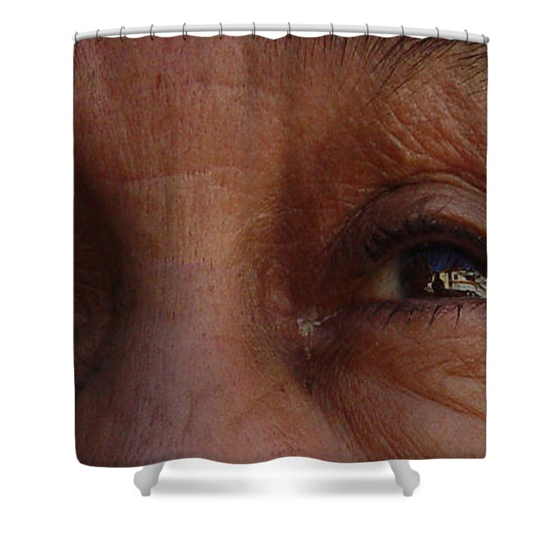 Eyes Shower Curtain featuring the photograph Burned Eyes by Peter Piatt
