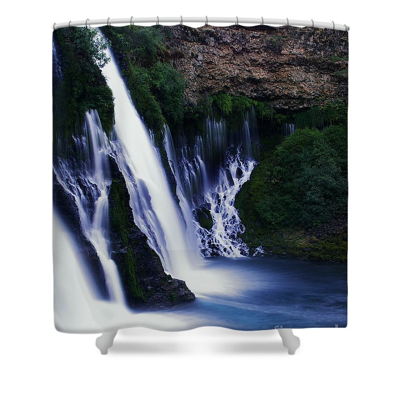River Shower Curtain featuring the photograph Burney Blues by Peter Piatt