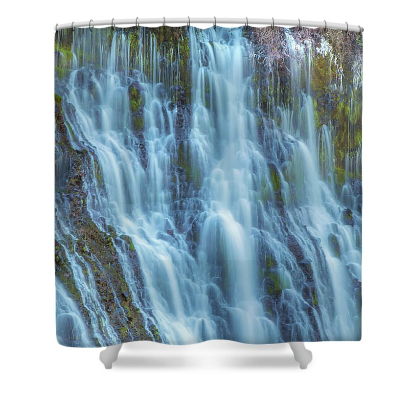 Landscape Shower Curtain featuring the photograph Burney Falls Detail by Marc Crumpler