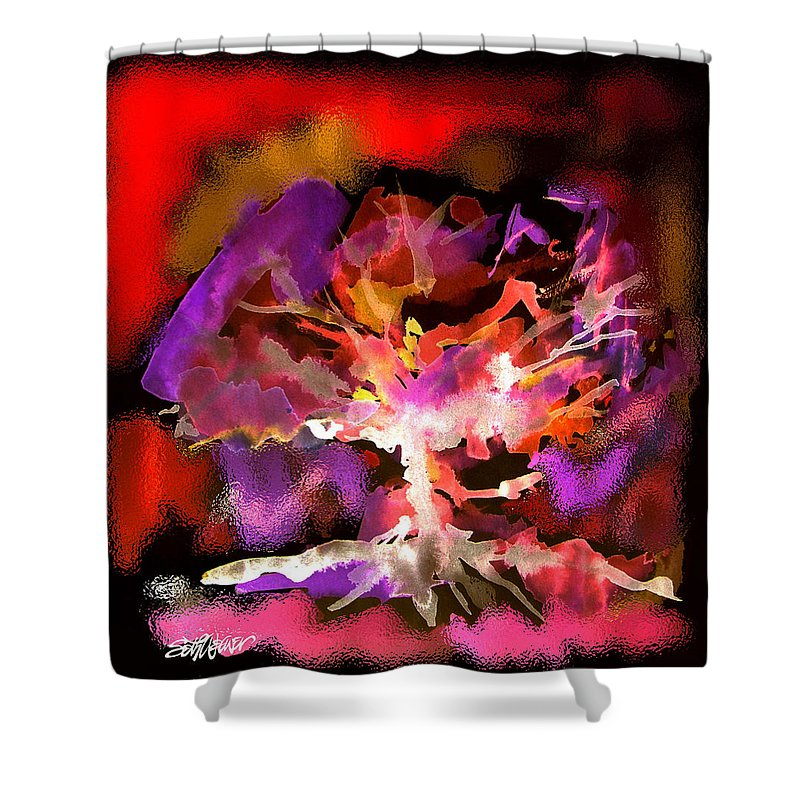 Bible Shower Curtain featuring the digital art Burning Bush by Seth Weaver