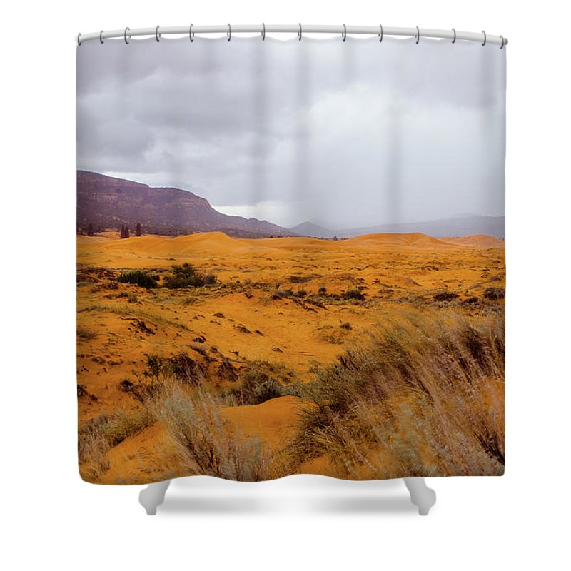 Paria Shower Curtain featuring the photograph Burnt Earth by Jerry Sellers