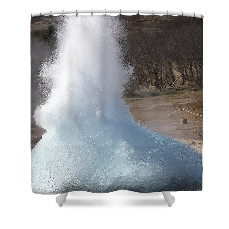 Steam Shower Curtain featuring the photograph Bursting Water Bubble At Onset by Richard Roscoe