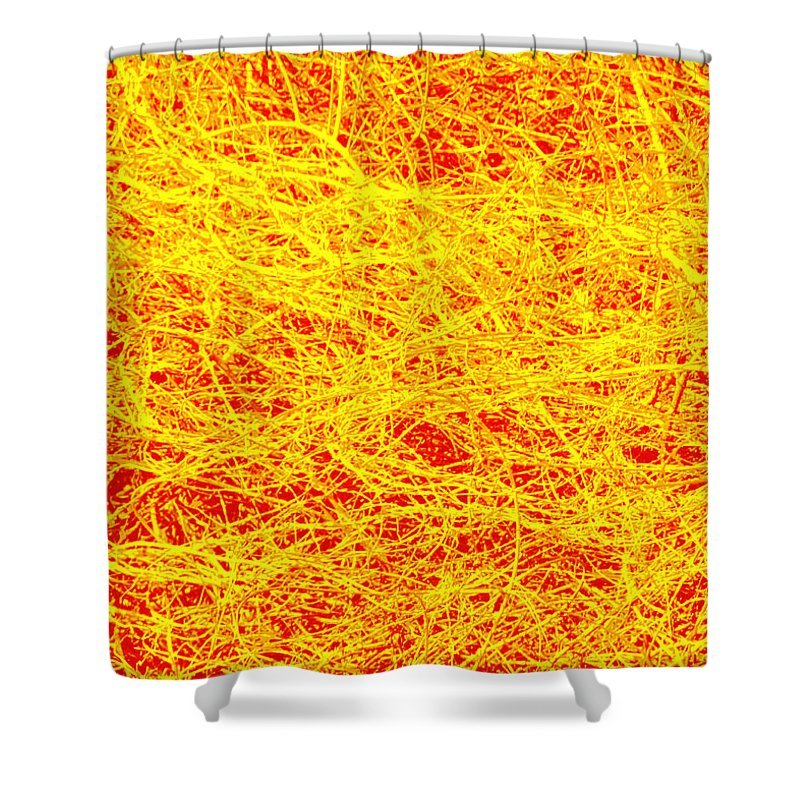 Photography Shower Curtain featuring the mixed media Bushes 2 by Steven Natanson