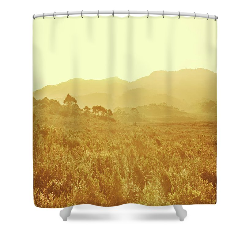 Grassland Shower Curtain featuring the photograph Bushland Of Western Dynamics by Jorgo Photography - Wall Art Gallery
