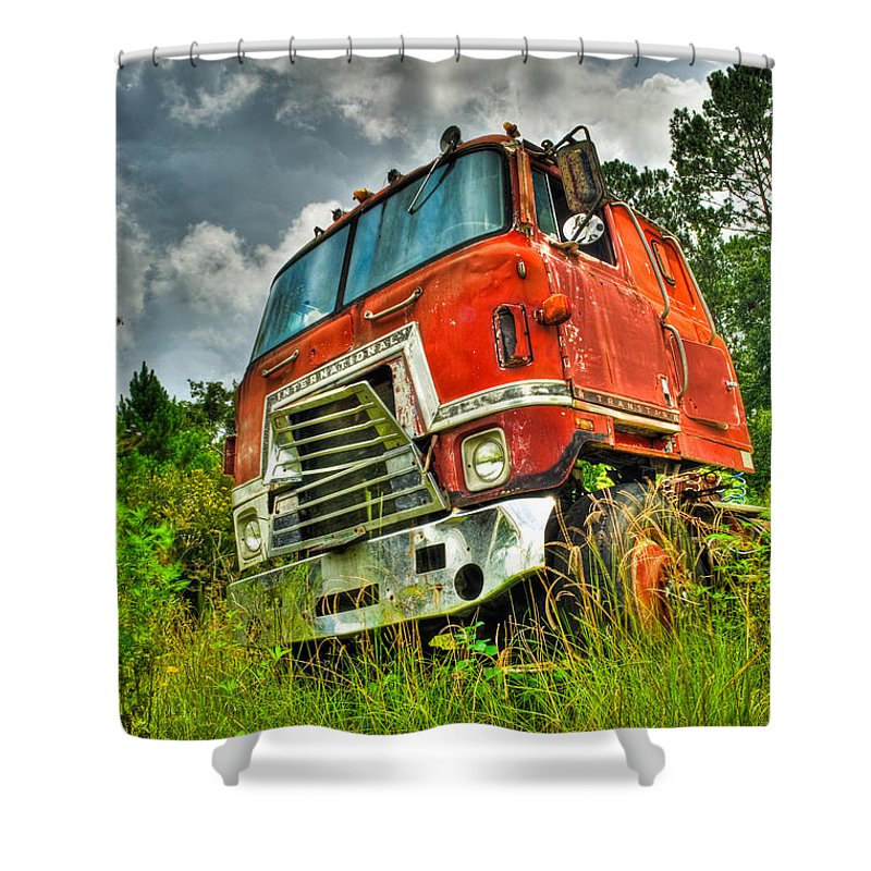 Truck Shower Curtain featuring the photograph Busted And Rusted by Rich Leighton