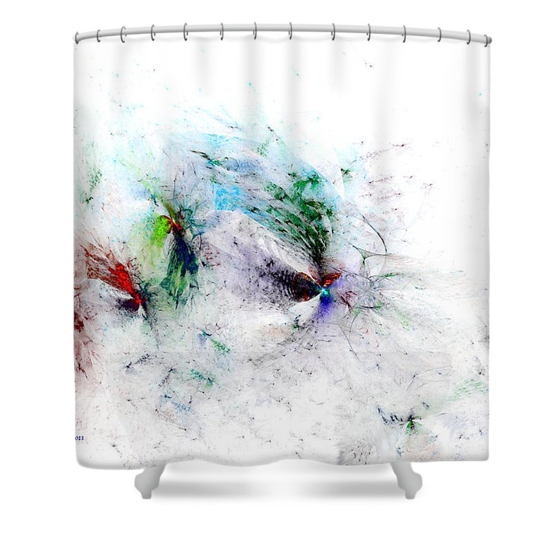 Digital Shower Curtain featuring the digital art Butterflies Are Free by Claire Bull