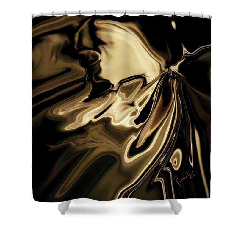 Butterfly Shower Curtain featuring the digital art Butterfly 2 by Rabi Khan