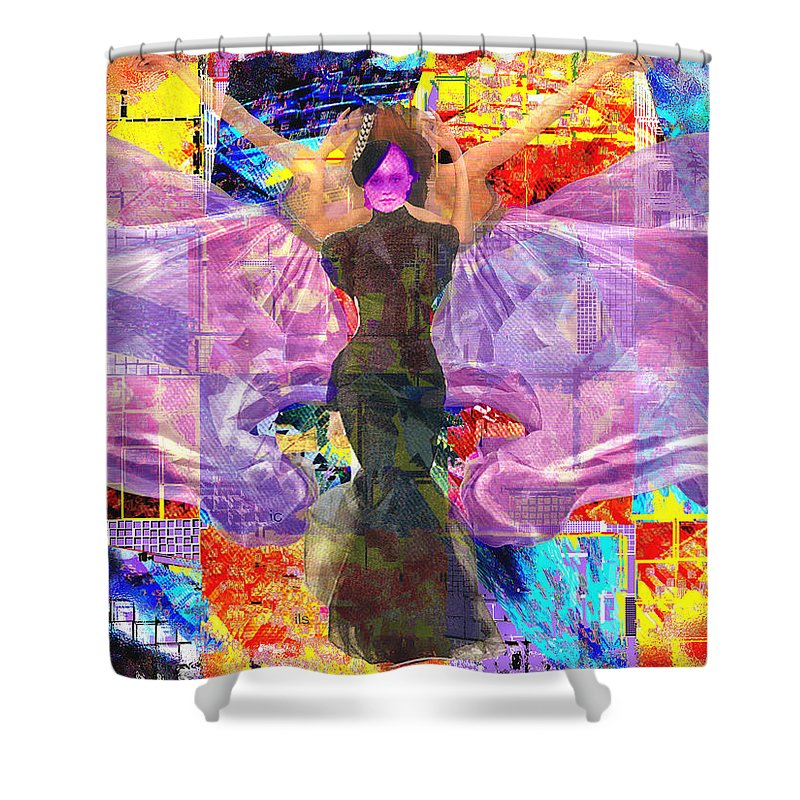 Butterfly Shower Curtain featuring the digital art Butterfly Fantasy by Seth Weaver