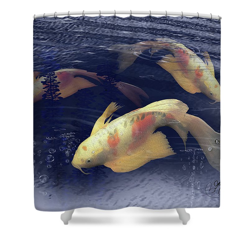 Butterfly Koi Shower Curtain For Sale By Bob Belz