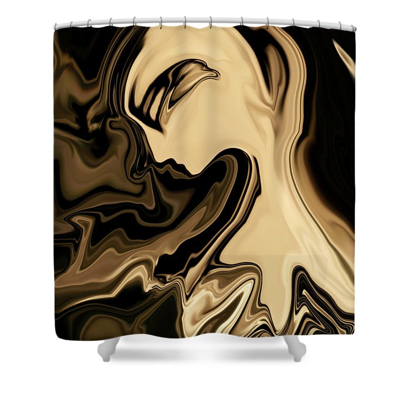 Abstract Shower Curtain featuring the digital art Butterfly Princess by Rabi Khan