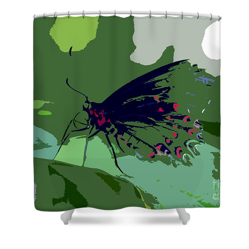 Butterfly Shower Curtain featuring the photograph Butterfly Work Number Ten by David Lee Thompson