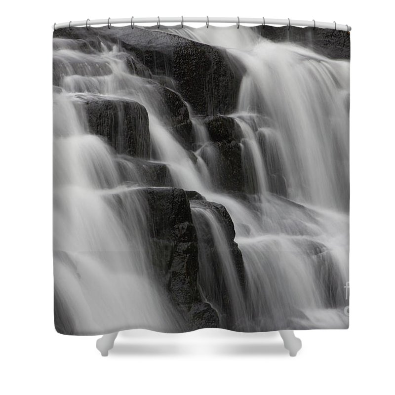 Nature Shower Curtain featuring the photograph Buttermilk Falls by Wes Boyce