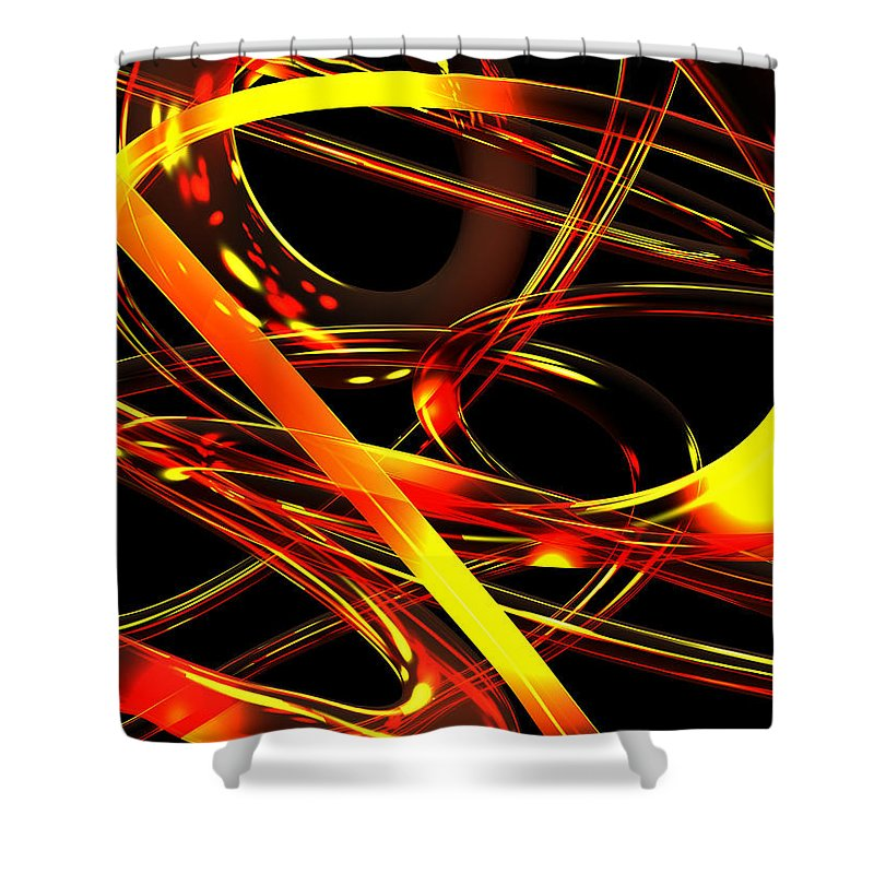 Scott Piers Shower Curtain featuring the digital art BWS by Scott Piers