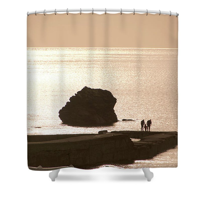 Couple Shower Curtain featuring the photograph By The Sea by Phil Child