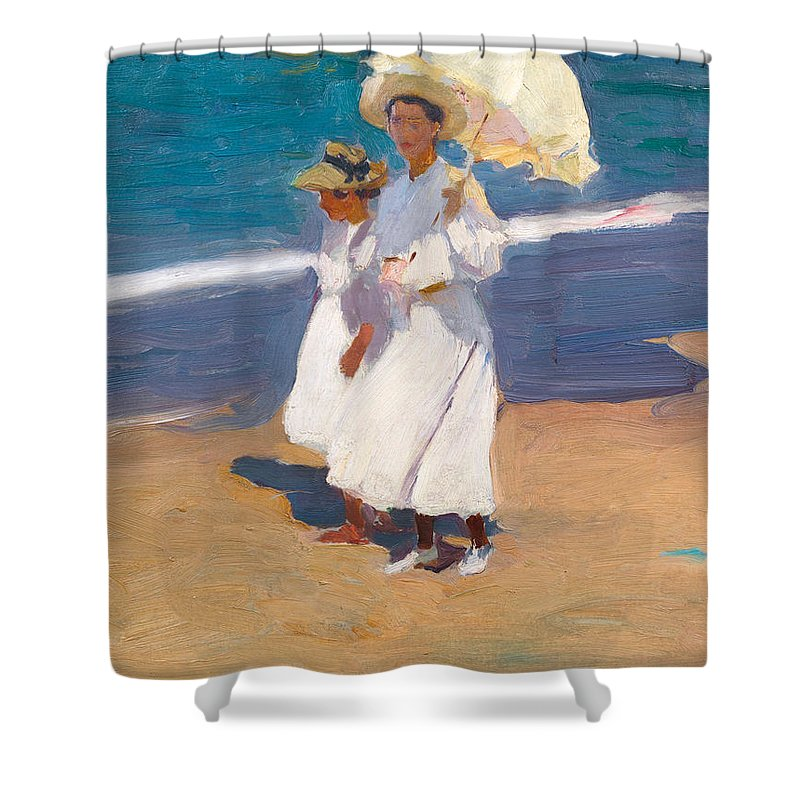 Joaquin Travel Towel: By The Seaside Shower Curtain For Sale By Joaquin Sorolla