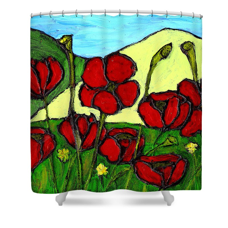 Flowers Shower Curtain featuring the photograph By The Side Of The Road by Wayne Potrafka